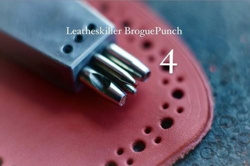 Leatheskiller Brogue Punch 4穴 カーブも得意なtool