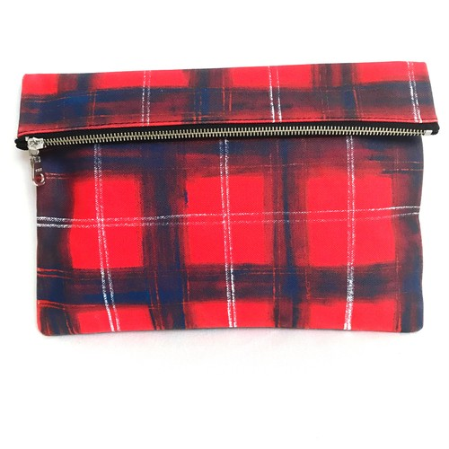Tartancheck Clutch Bag 《i》