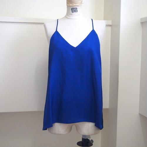 【hippiness】cupro  Vneck camisole(blue) /【ヒッピネス】キュプラ Vネック キャミソール(ブルー)