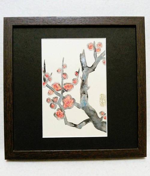 eHAGAKI Art 002 〈紅梅〉