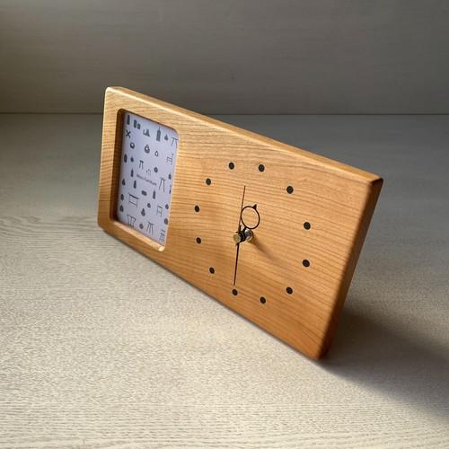 木の時計&フォトフレーム No83   山桜