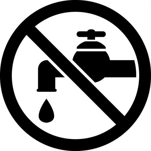 水道の使用禁止マークのカッティングシートステッカー