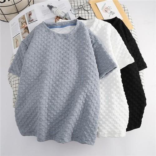シンプル カジュアル ラウンドネック 半袖 オシャレ 合わせやすい Tシャツ・トップス