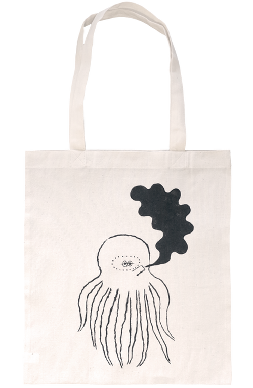 HAND-DRAWN TOTE BAG [OCTOPUS] ドローイングトートバッグ [タコ]
