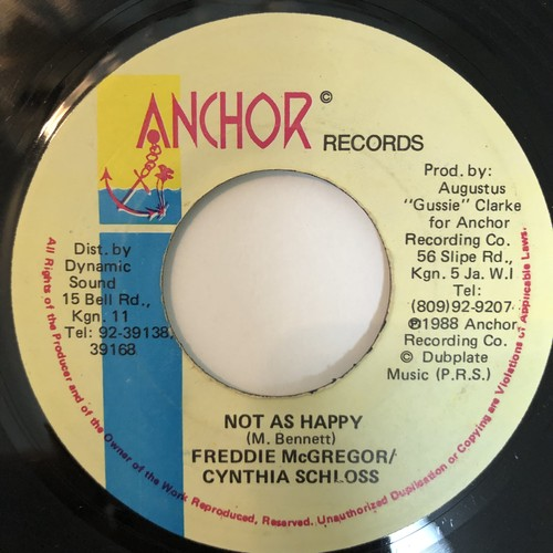 Freddie McGregor, Cynthia Schloss - Not As Happy【7-20382】
