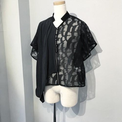 opal chiffon blouse / black 【kanashi】