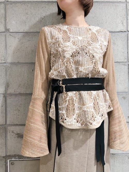 【20AW】EBONY エボニー / lace belt blouse