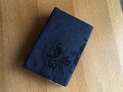 使用浅紬着物から文庫本ブックカバー