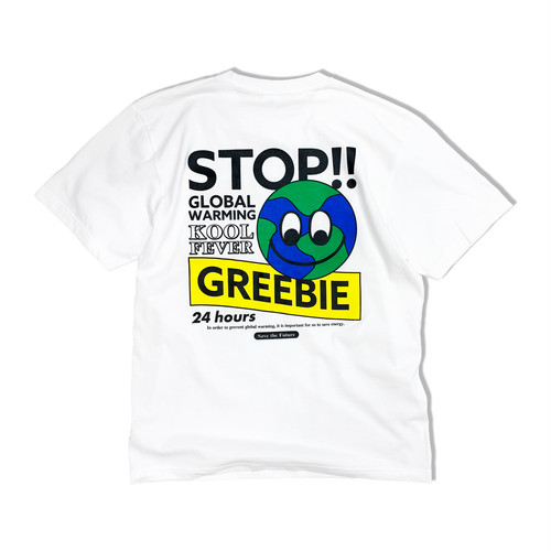 Stop global warming S/S shirts【White】
