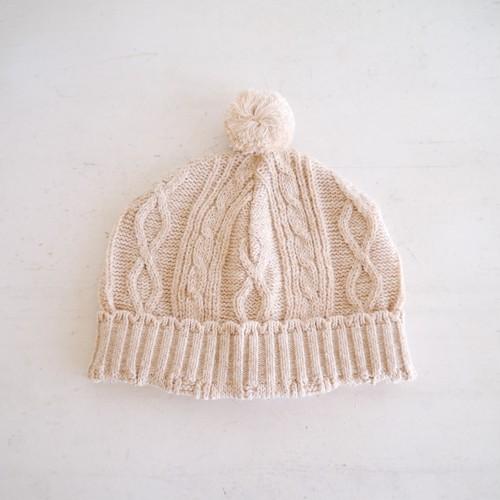 ベビー帽子 オーガニックコットン(ブラウン)