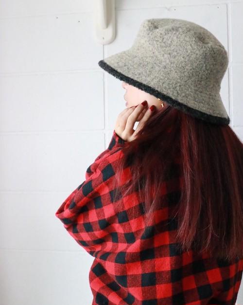 HERMES alpaca bucket hat
