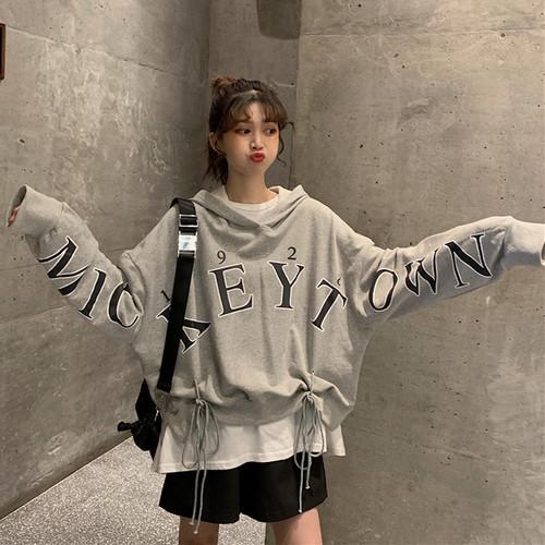 【トップス】韓国ファッションストリート系カジュアルスボーツ系キャンパスパーカー