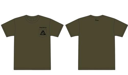 """Harmony & Speed 2 you""pocket T-shirt シティグリーン"