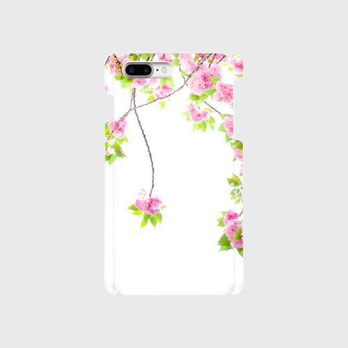 Sighing cherry blossoms 八重桜 iPhone8/ 7Plus/6Plus/6sPlusスマホケース
