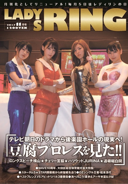LADYS RING(レディースリング)11月号(8.29「豆腐プロレスThe REAL 2017 WIP CLIMAX in 後楽園ホール」大特集!)