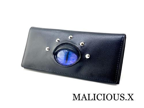 cat eye wallet / blue × purple