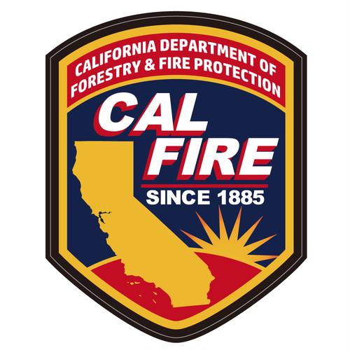 """096 山林火災のヒーローです。""""California Market Center"""" アメリカンステッカー スーツケース シール"""