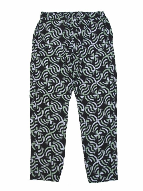 """Circle checker"" EASY PANTS  BLACK  18AW-FS-35"