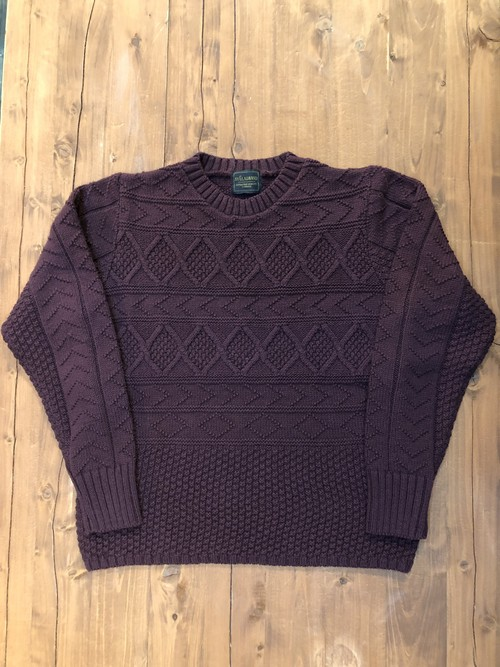 "【BY GLAD HAND】Crew Neck Cable Sweater ""Island"""