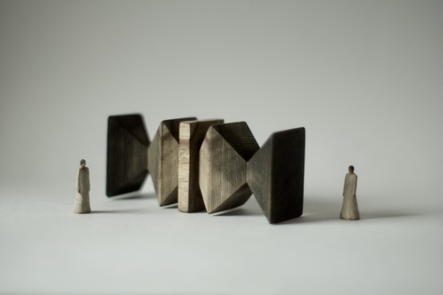 (024)wood figure-mini & construction 箱入 08