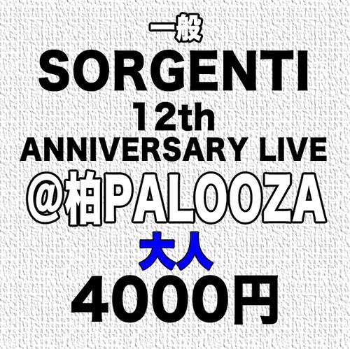 SORGENTI 12th Anniversary Live @柏PALOOZA(大人)