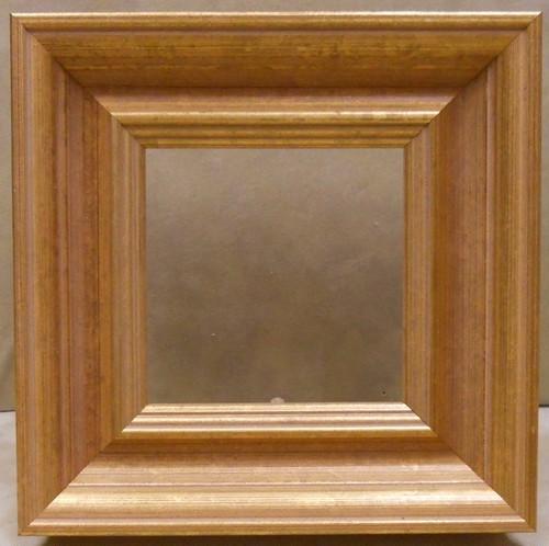 額縁アンティークおしゃれフレームゴールドG-34139/額縁寸法90㍉×90㍉窓枠寸法76ミリ×76ミリ/2㍉アクリル/裏板/箱なし