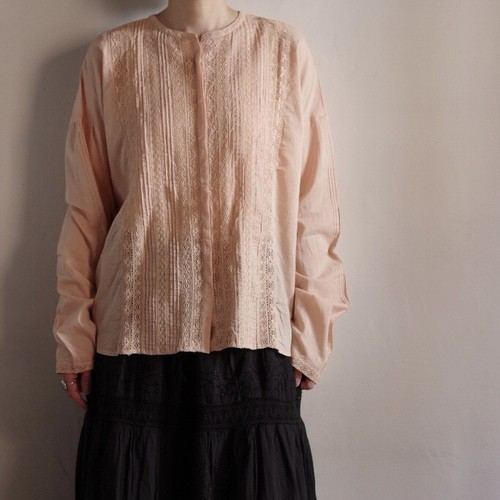 Select Item / Leaver lace Blouse #coral pink / リバーレース ブラウス