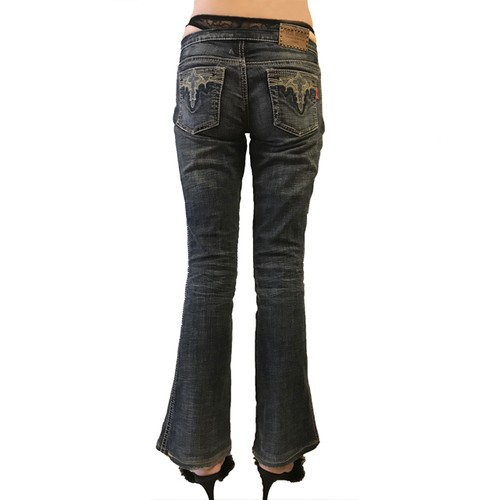 Super Low-rise Denim 'Paris Hilton' with FAKE G-string/A