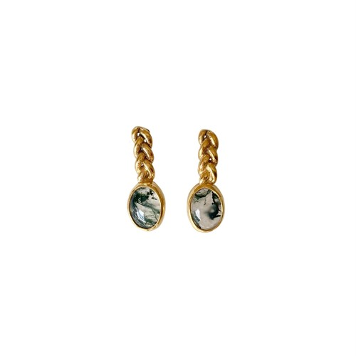 'moss' pierced earrings