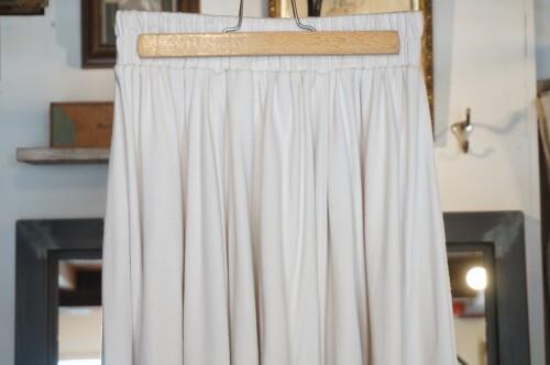 00's white jersey easy long Skirt