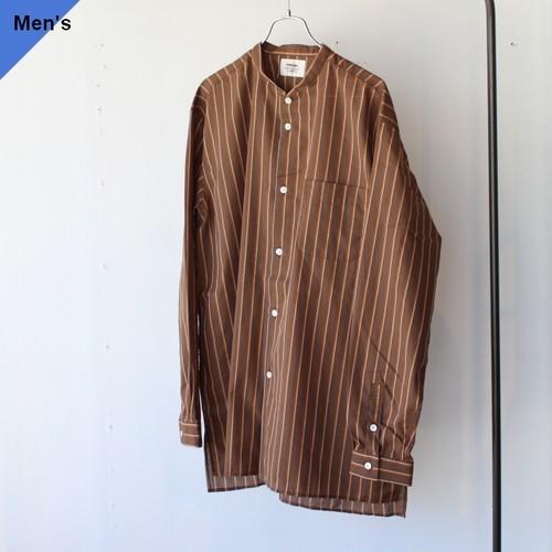 weac. ウィーク CHIVIC ルーズフィットボックスシャツ BROWN STRIPE