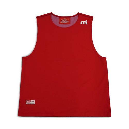 ミストラル メンズ【HP-DRY(ハイドロフォビックドライ)ノースリーブシャツ】RED