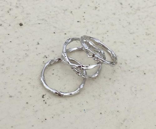 bone ring CROSS #01012  silver 骨クロスリング/シルバー