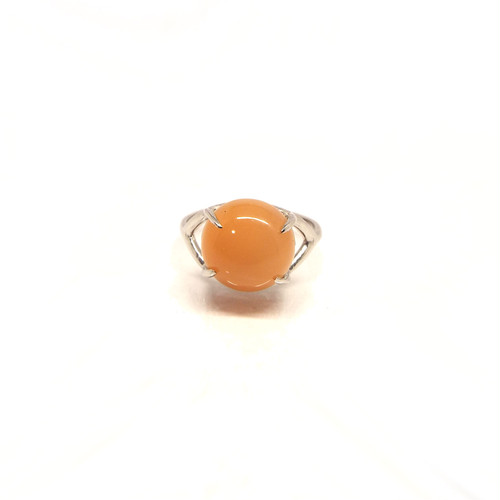 【PT900】Orange moon stone ring