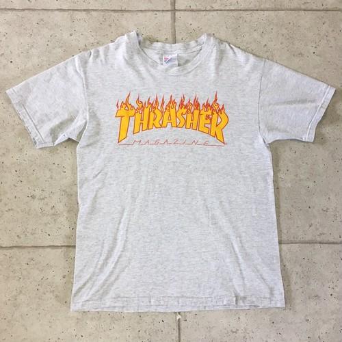 90s THRASHER  ファイヤーパターン  Tシャツ  size:M