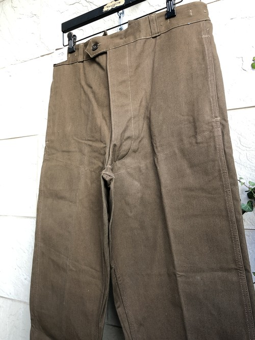 Deadstock French railroad brown work trousers 1