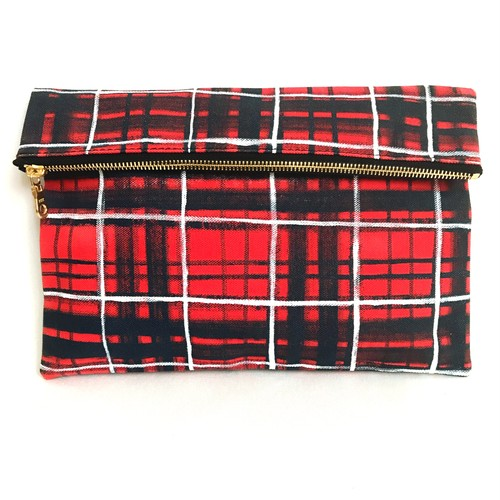 Tartancheck Clutch Bag 《g》