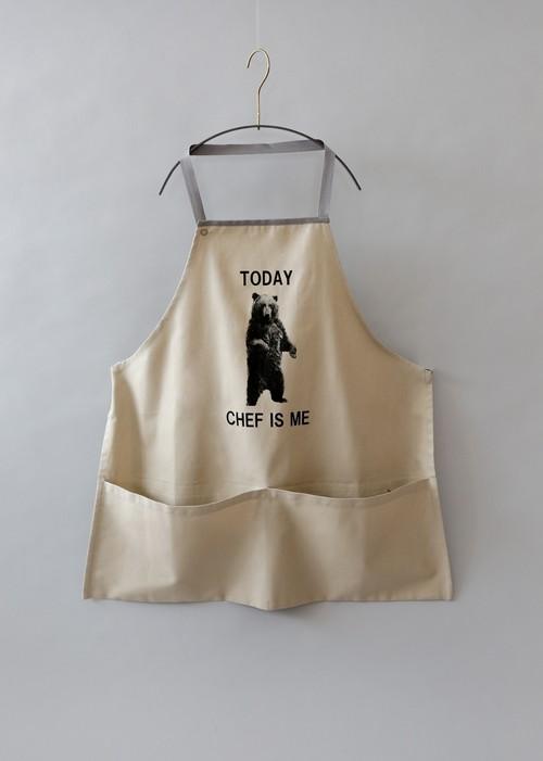 《michirico 2019AW》Bear apron / beige