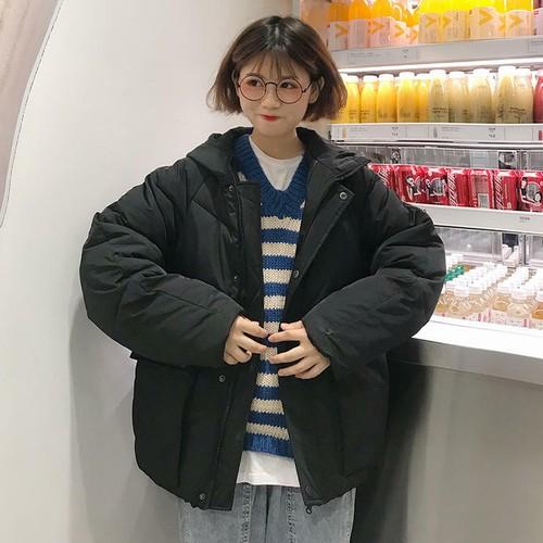 【送料無料】 あったかアウター♡ フード付き オーバーサイズ カジュアル メンズライク ダウン ジャケット