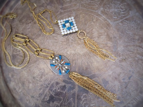 vintage necklace bijou and fringe <NC-FR1/2>