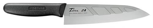 銀チタン三徳包丁 ディンプル GHT-18D