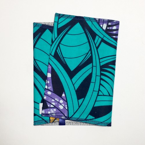 ブックカバー アフリカンテキスタイル(日本縫製) 幾何学3|アフリカ エスニック ガーナ布