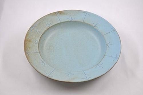 ブロンズ リム深皿 青銅
