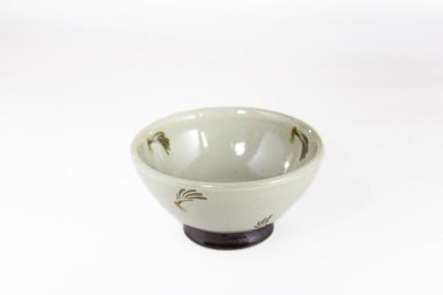 【受注生産対応】クバ結風彩 3.5寸 丸茶碗 白
