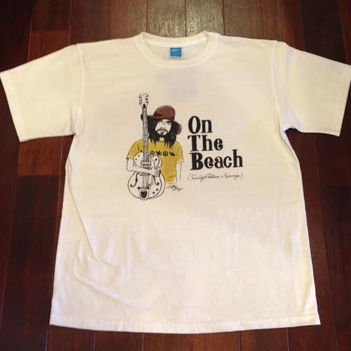 "Sunlight Believer / サンライト・ビリーバー | "" On The Beach "" Tee - Natural"