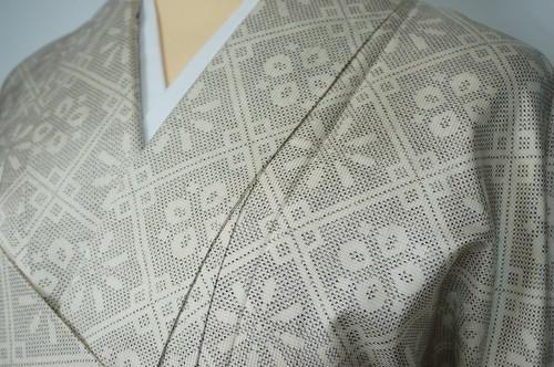 紬 正絹 花襷文様 051