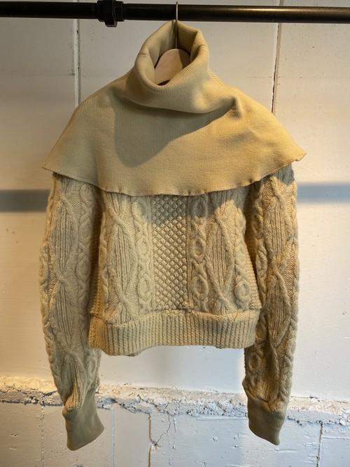 77circa  circa make cape neck fisherman sweater