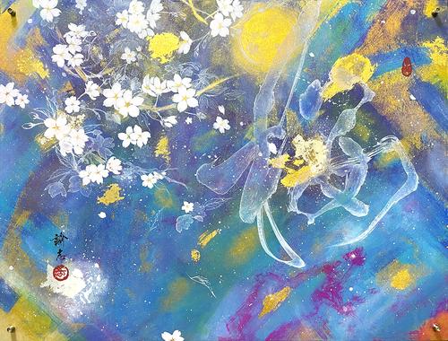 【アクリル額】桜【50×38×2cm】