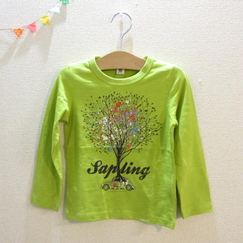 110㎝ JEANS-b クルマと木柄長袖Tシャツ