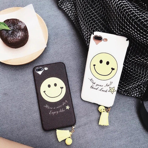 スマイルiPhoneケース シリコンケース Smile×Good Luck  Smile×Enjoy like  iPhone6/6s iPhone6/6sPlus iPhone7 iPhone7Plus/iPhone8 iPhone8Plus